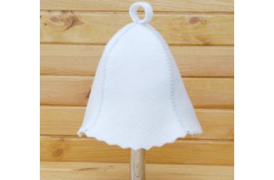 Шапка для сауны белая