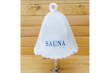 Шапка для сауны Сауна, синяя