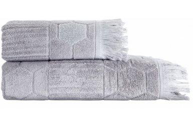Махровое полотенце Arya. Жаккард Frew Grey