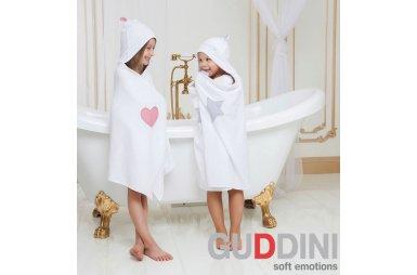Полотенце детское с капюшоном Gudinni. Sofi белого цвета
