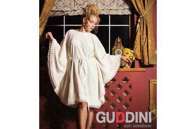 Махровый женский халат Guddini. Luisa молочный