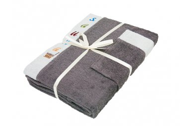Набор для сауны мужской Gursan, серый, 3 предмета