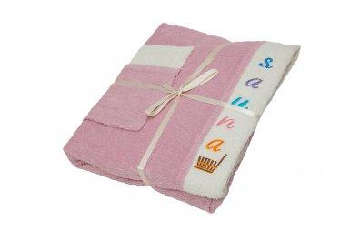 Набор для сауны женский Gursan, розовый, 3 предмета