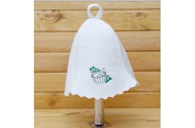 Шапка для сауны Березовый лист