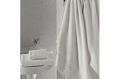 Набор бамбуковых полотенец Altinbasak. Kleopatra кремового цвета, 30х50 см+50х90+70х140 см, 3 шт