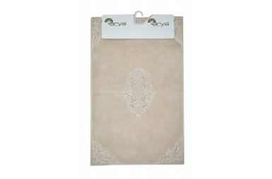 Набор ковриков для ванной Аrya из Гипюра. Marlow пудра, 2 предмета