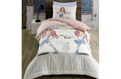 Подростковое постельное белье Arya. Ранфорс Music Girl