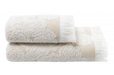Махровое полотенце Arya. Жаккард Nadine  Ekru