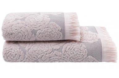 Махровое полотенце Arya. Жаккард Nadine Pembe