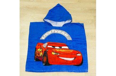 Детское полотенце-пончо Cars 2