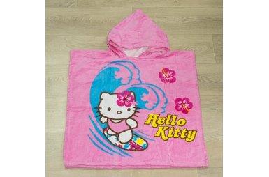 Детское полотенце-пончо Hello kitty 2