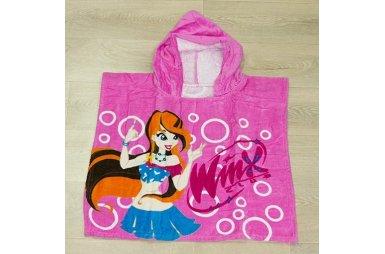 Детское полотенце-пончо Winx 2