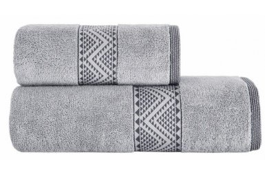 Махровое полотенце Arya. Жаккард Rey Grey