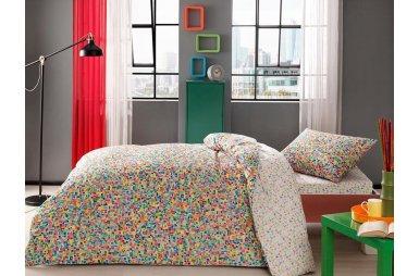 Подростковое постельное белье TAC. Ranforce Graffiti Scull (простынь на резинке)