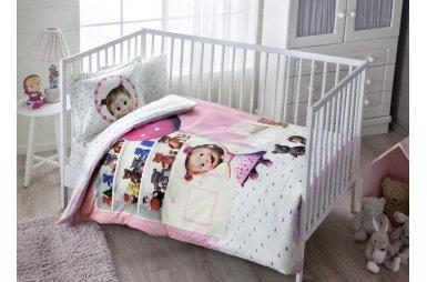 Постельное белье в детскую кроватку TAC. Masha Bear Baby