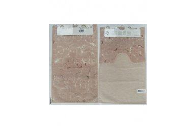 Набор ковриков для ванной Аrya. Sarmasik, розового цвета, 60х100 см, 2 предмета