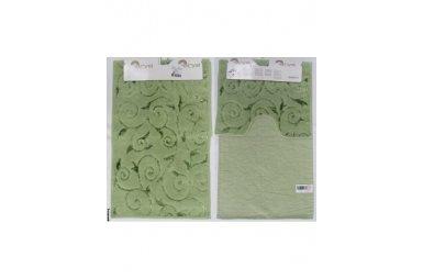 Набор ковриков для ванной Аrya. Sarmasik, зеленого цвета, 60х100 см, 2 предмета