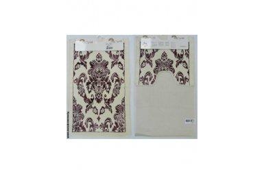 Набор ковриков для ванной Аrya. Saray, экрю, фиолетовый, 60х100 см, 2 предмета