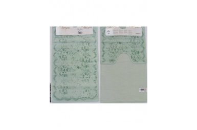 Набор ковриков для ванной Аrya. Bahar, водянисто-зеленого цвета, 60х100 см, 2 предмета