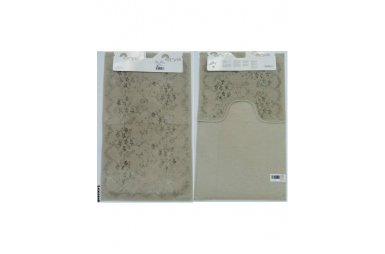 Набор ковриков для ванной Аrya. Bahar, бежевого цвета, 60х100 см, 2 предмета