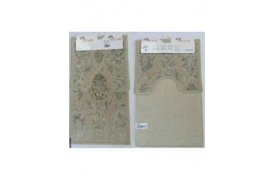 Набор ковриков для ванной Аrya. Osmanlı, бежевого цвета, 60х100 см, 2 предмета