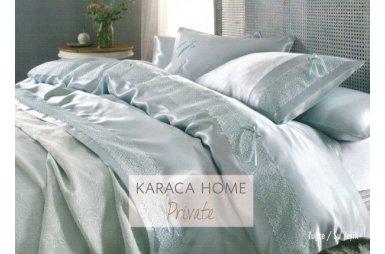Постельное белье с покрывалом пике Karaca Home. Tugce su yesil зеленое