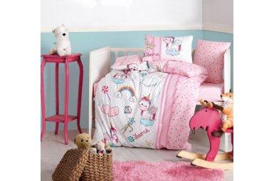 Постельное белье в детскую кроватку Cotton Box. Unicorn Pembe