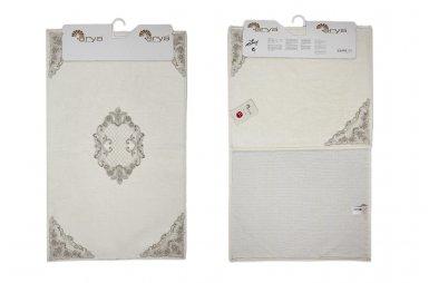 Набор ковриков для ванной Аrya из Гипюра. Valentin крем, 2 предмета