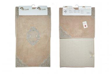 Набор ковриков для ванной Аrya из Гипюра. Valentin бежевый, 2 предмета