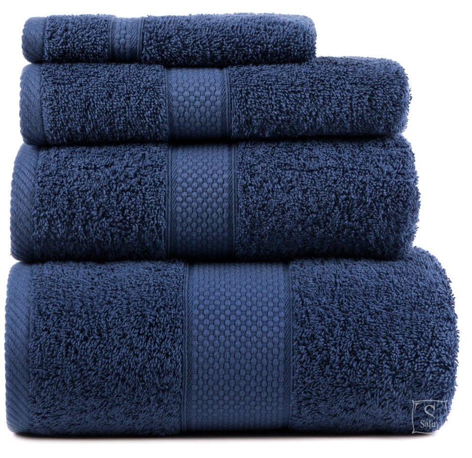 004a01cffb5e9b8 Купить Махровое полотенце Arya. Однотонное Miranda Soft темно-синего ...