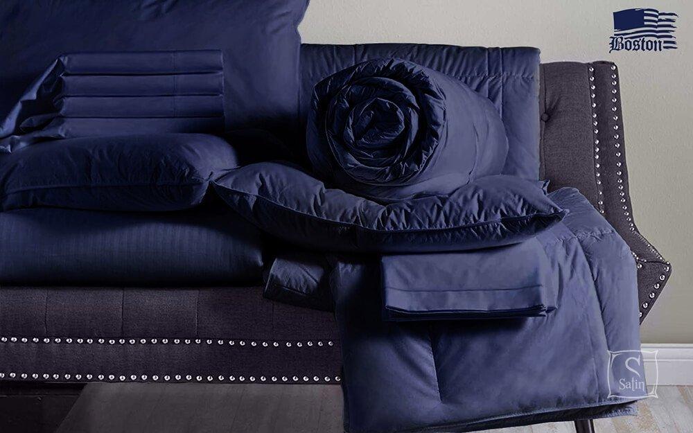 9e06722fc587 Купить Постельное белье Boston. Jefferson Sateen Dark Blue — лучшая ...