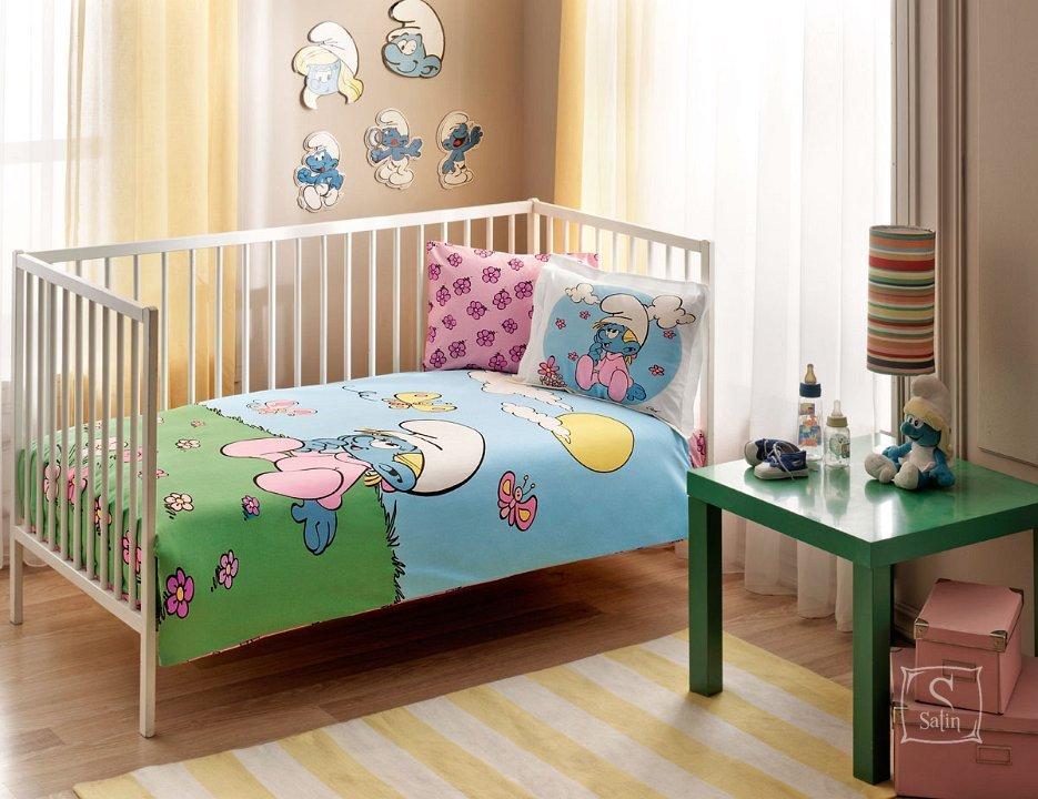 Купить Постельное белье в детскую кроватку TAC. SIRINLER PINK BABY ... fbc28c4b8ef53