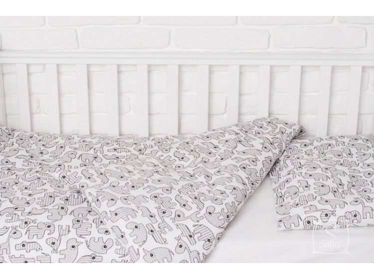 Постельное белье в детскую кроватку Elfdreams. Зоопарк