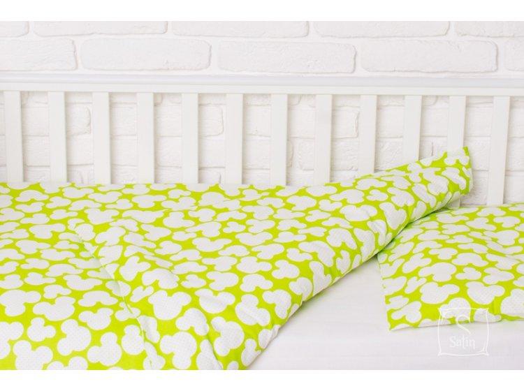 Постельное белье в детскую кроватку Elfdreams. Микки Маус