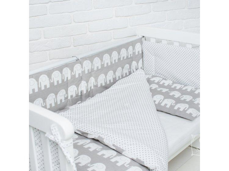 Постельное белье в детскую кроватку Elfdreams. Слоники