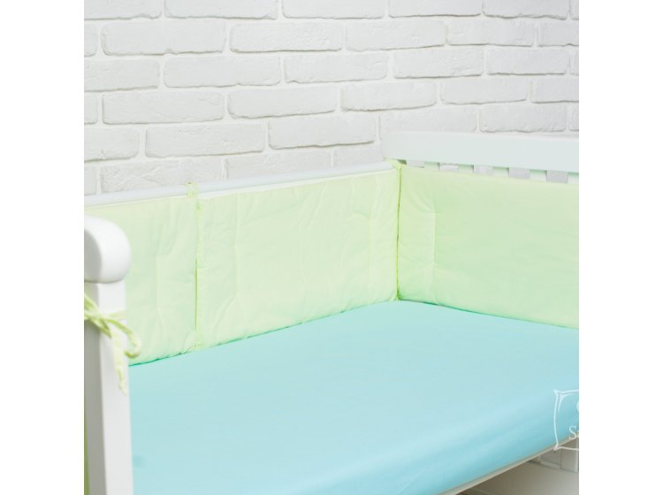 Бортики в детскую кроватку Elfdreams. Салатовый