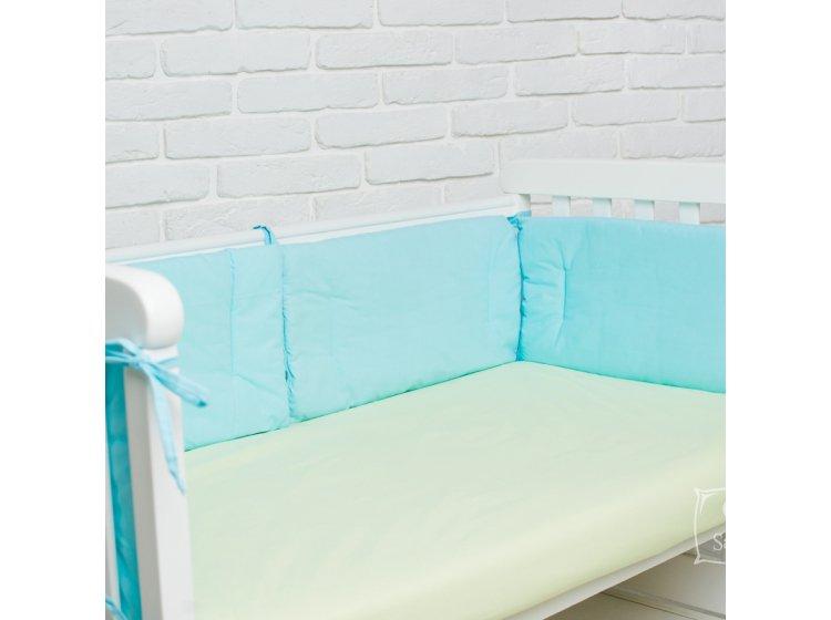 Постельное белье в детскую кроватку Elfdreams. Салатовые сердечки