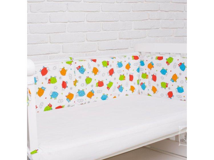 Бортики в детскую кроватку Elfdreams. Барашки
