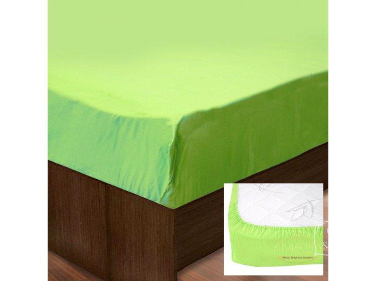 Простынь на резинке SoundSleep. Ran-128 Green зеленая