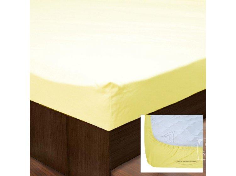 Простынь на резинке SoundSleep. Ran-105 Yellow желтая