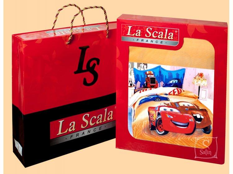 La Scala, Принцессы-1  KI050, 1,5-спальный комплект белья, сатин