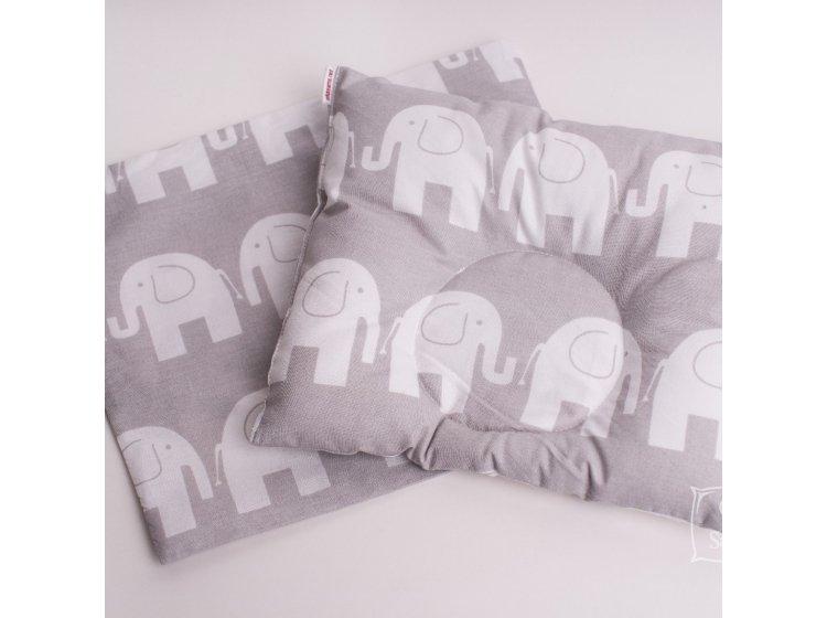 Подушка ортопедическая для младенцев Elfdreams. Слоники с наволочкой