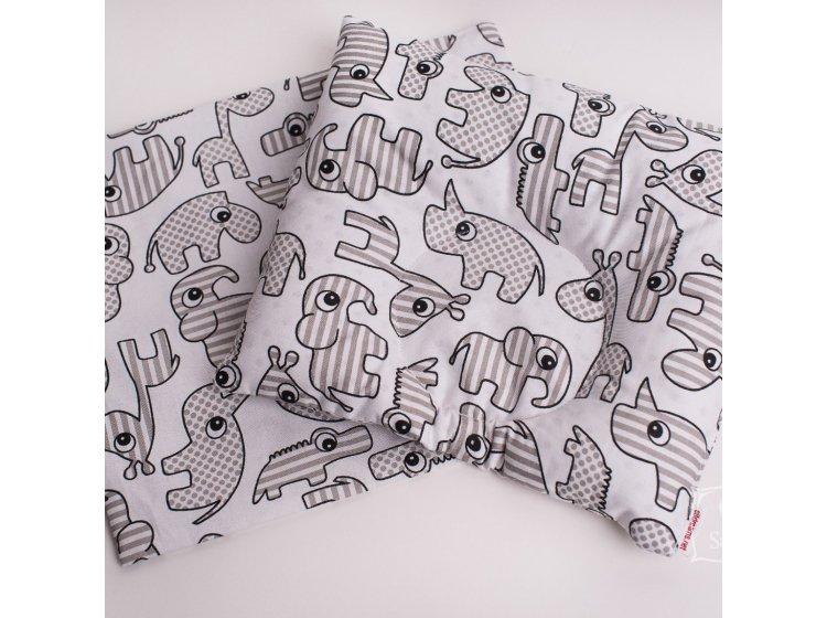 Подушка ортопедическая для младенцев Elfdreams. Зоопарк с наволочкой