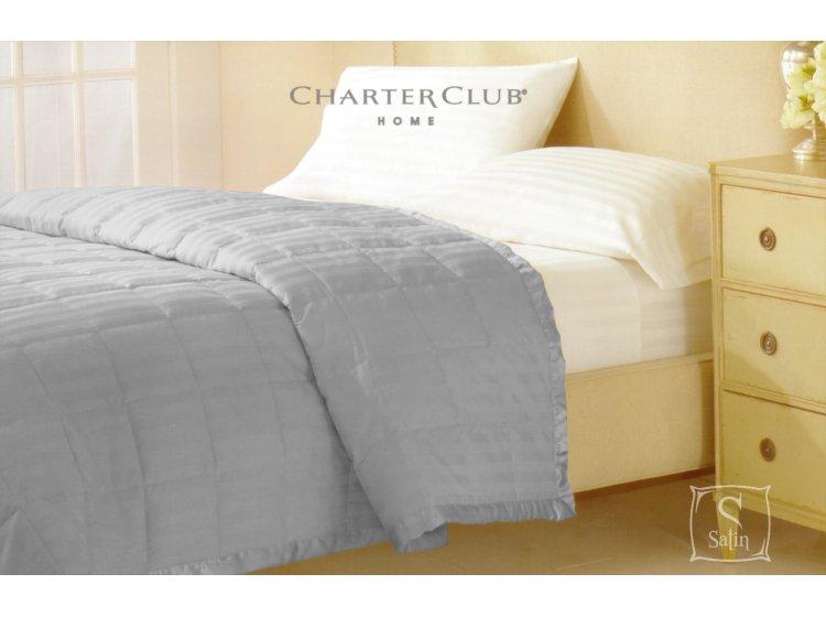 Покрывало стеганное Charter Club серое, размер 229х234 см