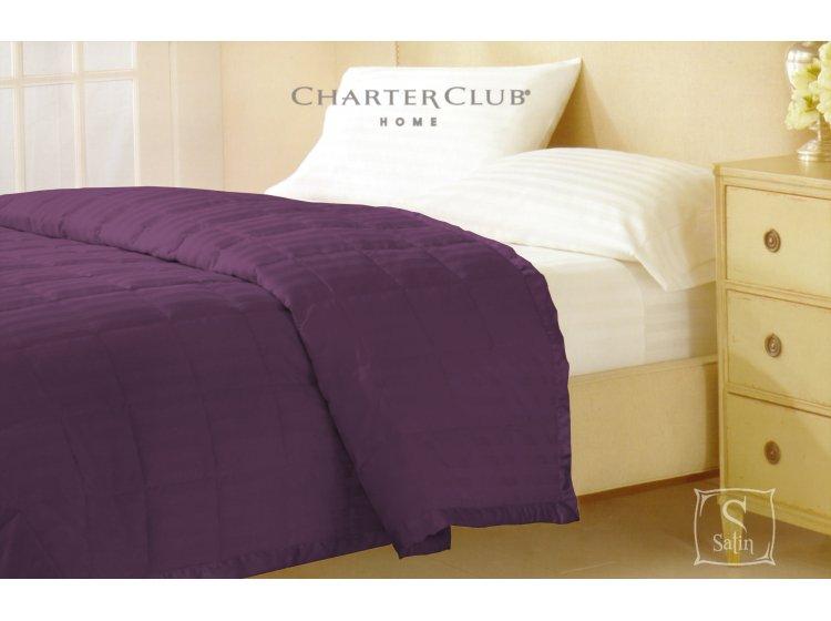 Покрывало стеганное Charter Club фиолетовое, размер 229х234 см
