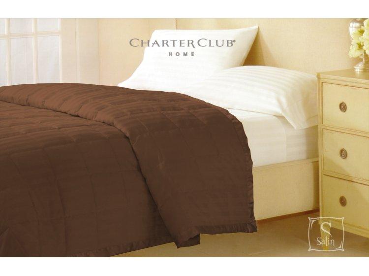 Покрывало стеганное Charter Club кофейное, размер 229х234 см