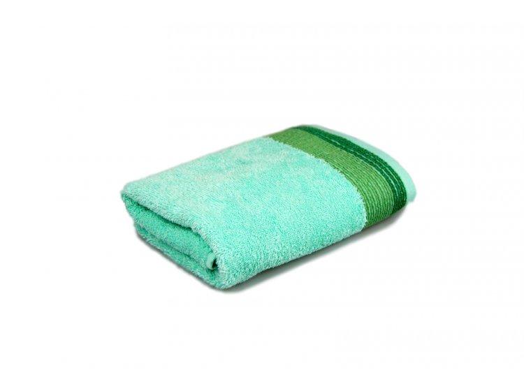 Полотенце махровое Home Line. Лотус ментолового цвета