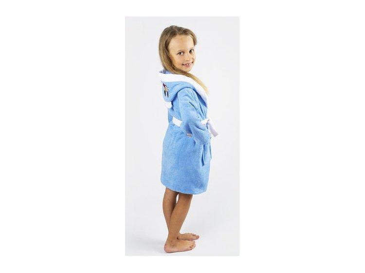 Халат детский махровый Lotus. Зайка голубого цвета