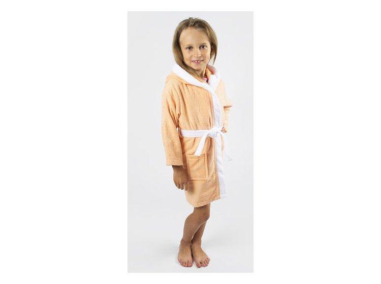 54ff18afa0d1b Купить Халат детский махровый Lotus. Зайка персикового цвета ...