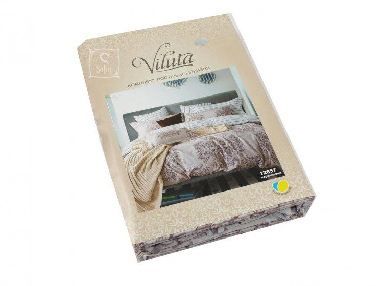 Постельное белье Viluta. Платинум 12657 коричневый упаковка